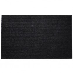 stradeXL Door Mat 90 x 150 cm Black PVC