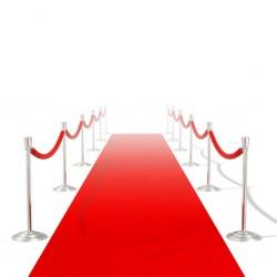 stradeXL Czerwony dywan, 1 x 5 m, bardzo ciężki, 400 g/m2