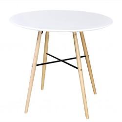 stradeXL Okrągły stół z płyty MDF, biały