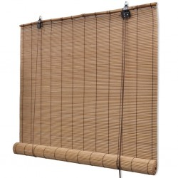 Brown Bamboo Roller Blinds 80 x 160 cm