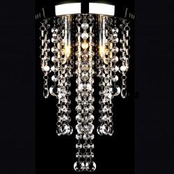 stradeXL Lampa sufitowa z kryształami, biała, metalowa