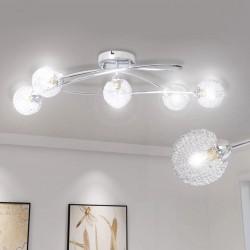 Lampa sufitowa z drucianym abażurem, 5 x G9 żarówka