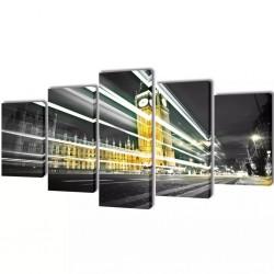 Zestaw obrazów Canvas 200 x 100 Big Ben