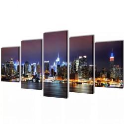 Zestaw obrazów Canvas 200 x 100 cm Nowy Jork