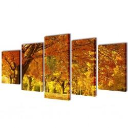 Zestaw obrazów Canvas 200 x 100 cm Klony