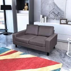 stradeXL 2-osobowa sofa materiałowa, ciemnoszara