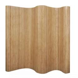 stradeXL Room Divider Bamboo Natural 250x165 cm