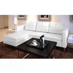 stradeXL Sofa 3-osobowa, skóra syntetyczna, biała