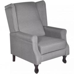 stradeXL Fotel, szary, tkanina