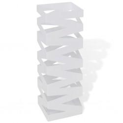 stradeXL Kwadratowy stojak na parasole i laski, biały, stalowy, 48,5 cm