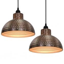 stradeXL Lampy sufitowe, 2 szt., półkuliste, kolor miedzi