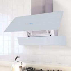 stradeXL Okap kuchenny z dotykowym wyświetlaczem, 900 mm, biały