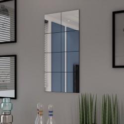 stradeXL Frameless Mirror Tiles Glass 8 pcs 20.5 cm