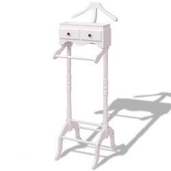 stradeXL Clothing Rack with Cabinet Wood White