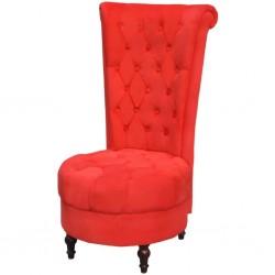 stradeXL Fotel z wysokim oparciem, czerwony, tkanina
