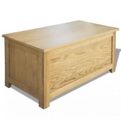 stradeXL Skrzynia do przechowywania, 90x45x45 cm, lite drewno dębowe