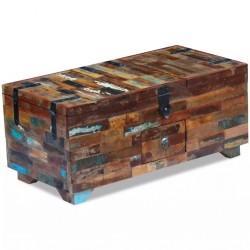 stradeXL Stolik kawowy-skrzynia z drewna odzyskanego 80x40x35 cm