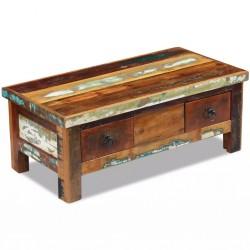 stradeXL Stolik kawowy z szufladami z drewna odzyskanego 90x45x35 cm