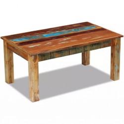 stradeXL Stolik kawowy z drewna odzyskanego 100x60x45 cm