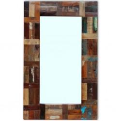 stradeXL Lustro z ramą z drewna odzyskanego, 80x50 cm