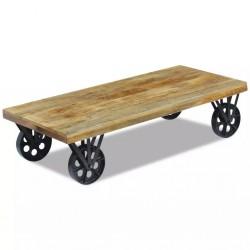 stradeXL Stolik z drewna mango 120x60x30 cm