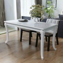 stradeXL Stół jadalniany, 116x66x76 cm, biały o wysokim połysku