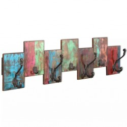 stradeXL Coat Rack with 7 Hooks Solid Reclaimed Wood