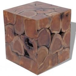 stradeXL Stołek, lite drewno tekowe