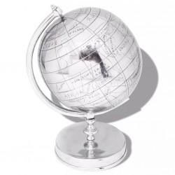 stradeXL Globe with Stand Aluminium Silver 42 cm