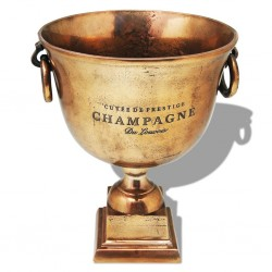stradeXL Trophy Cup Champagne Cooler Copper Brown