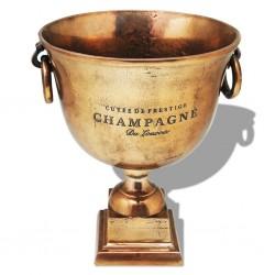 stradeXL Wiaderko na szampana w kształcie pucharu, miedziane, brązowe