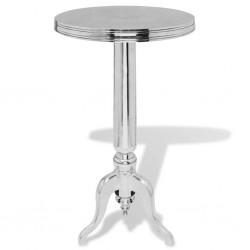 stradeXL Okrągły stolik boczny z aluminium, srebrny