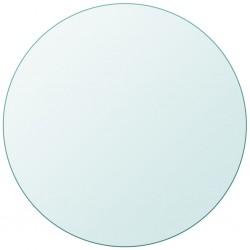 stradeXL Blat stołu szklany, okrągły 500 mm