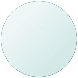 stradeXL Blat stołu szklany, okrągły 800 mm