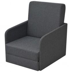 stradeXL Rozkładany fotel, ciemnoszary, tkanina