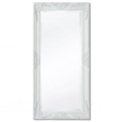 stradeXL Lustro ścienne w stylu barokowym, 100x50 cm, białe