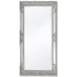 stradeXL Lustro ścienne w stylu barokowym, 100x50 cm, srebrne
