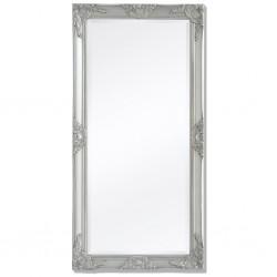 stradeXL Lustro ścienne w stylu barokowym, 120x60 cm, srebrne