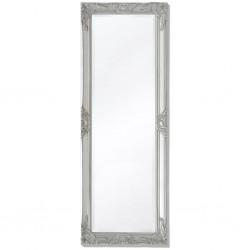 stradeXL Lustro ścienne w stylu barokowym, 140x50 cm, srebrne