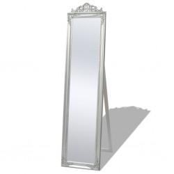 stradeXL Free-Standing Mirror Baroque Style 160x40 cm Silver