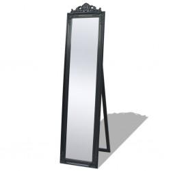 stradeXL Lustro wolnostojące w stylu barokowym, 160x40 cm, czarne