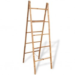 stradeXL Double Towel Ladder with 5 Rungs Bamboo 50x160 cm