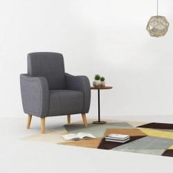 stradeXL Fotel, jasnoszary, tkanina
