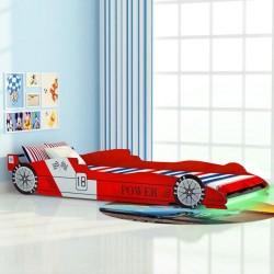 stradeXL Łóżko dziecięce w kształcie samochodu, 90 x 200 cm, czerwone