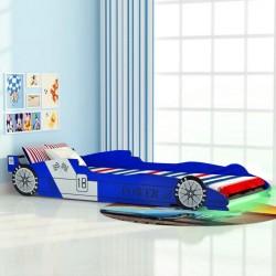 stradeXL Łóżko dziecięce w kształcie samochodu, 90 x 200 cm, niebieskie