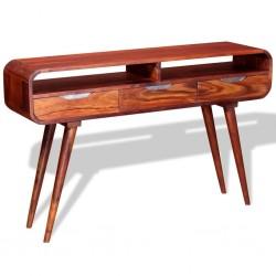 stradeXL Stolik typu konsola z litego drewna sheesham, 120 x 30 x 75 cm