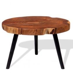 stradeXL Stolik kawowy plaster, (55-60) x 40 cm, lite drewno akacjowe
