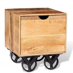 stradeXL Szafka z szufladą, 40x40x45 cm, drewno mango