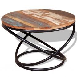 stradeXL Stolik kawowy, drewno odzyskane, 60x60x40 cm