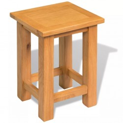 stradeXL Stolik, 27x24x37 cm, lite drewno dębowe
